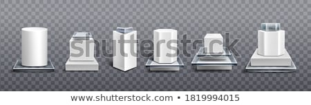3D glass rounded cube isolated on white background.  Stock photo © lenapix