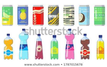 ボトル · ドリンク · おいしい · 氷 · 光 · 金 - ストックフォト © taden