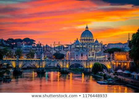 Roma gün batımı fotoğraf kilise Stok fotoğraf © SecretSilent