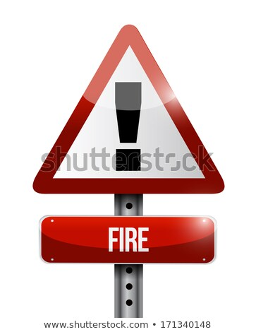 At Explosive Sign Illustration Design Over White Background Photo stock © alexmillos