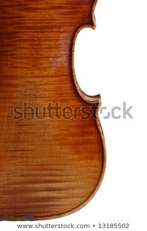 Backside body of old violin with bow Stock photo © gavran333