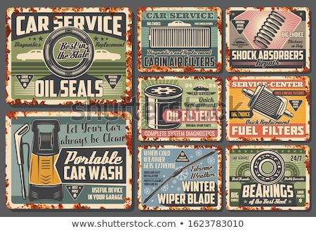 vintage bearing scraper stock photo © reddaxluma