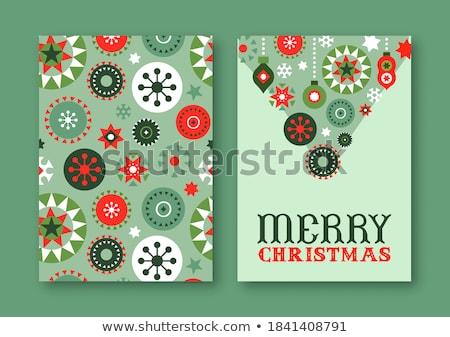 ретро дизайна Рождества копия пространства зима Сток-фото © kariiika