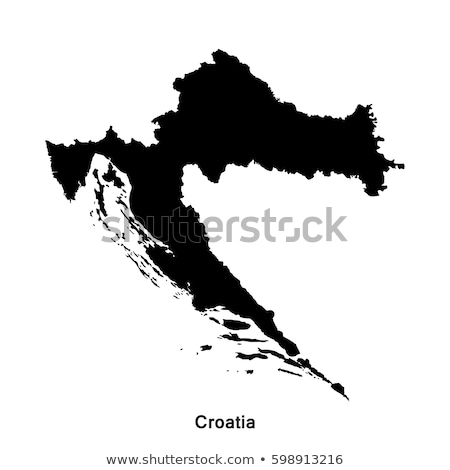 Black Croatia map Stock photo © Volina