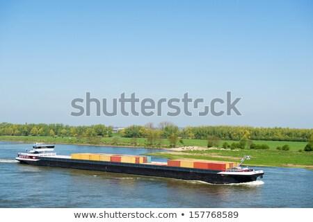 Grande carga buques holandés paisaje transporte Foto stock © ivonnewierink