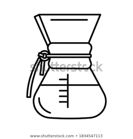 Kávé magvak üveg fából készült polc háttér Stock fotó © ssuaphoto