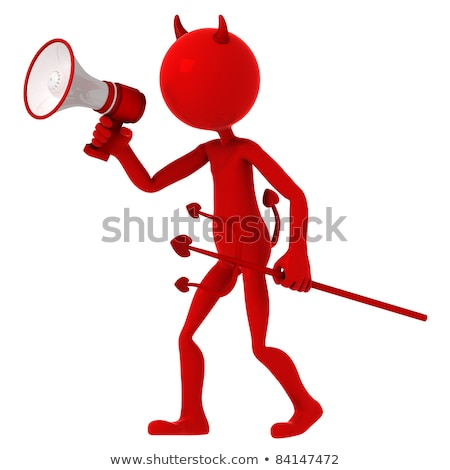 devil agitate through megaphone stock photo © kirill_m