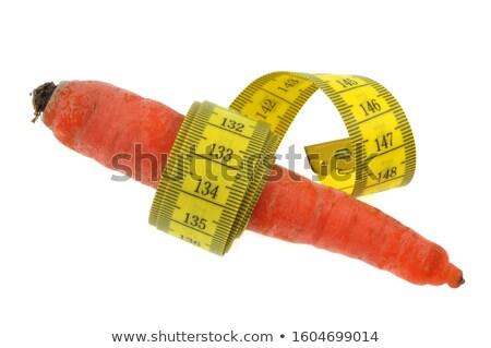 Foto stock: Cenoura · comida · branco · fita · estilo · de · vida · vegetal