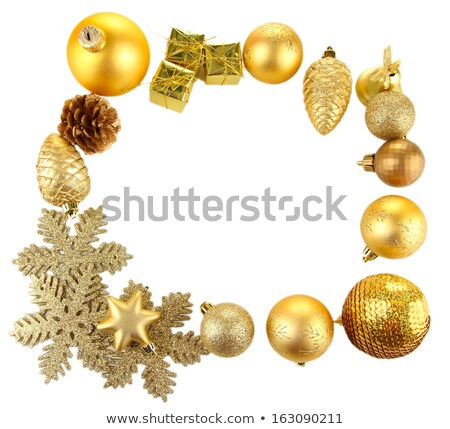 christmas gold bump isolated on white Stock photo © oly5
