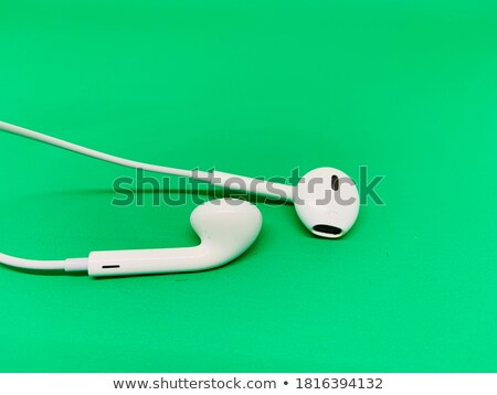 Green Apple with Earbuds Stock photo © mybaitshop