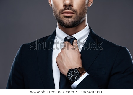 Businessman straightening his tie Stock photo © AndreyPopov