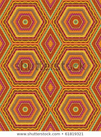 Seamless kashmir, paisley or oriental rug geometric pattern Stock photo © ratselmeister