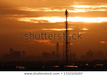 mobiele · telefoon · toren · een · lang · telecommunicatie · heuvel - stockfoto © kzenon