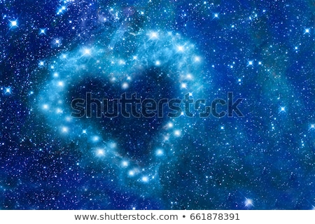 Star heart in night sky Stock photo © ESSL