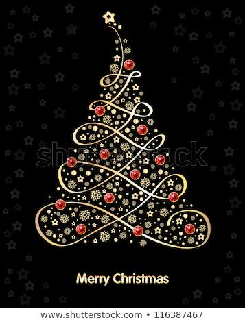 backgroundwith precious stones golden ornament and stars stock photo © yurkina