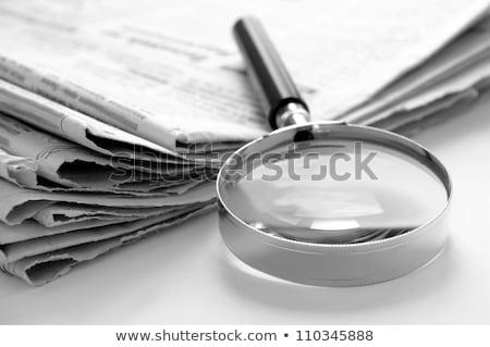 kariyer · haber · gazete · rulo · beyaz - stok fotoğraf © tashatuvango