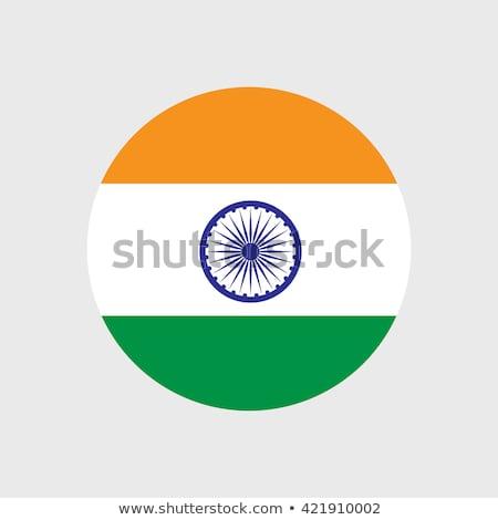 vlag · icon · Indië · geïsoleerd · witte - stockfoto © zeffss