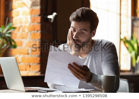 Upset anxious businessman Stock photo © smithore