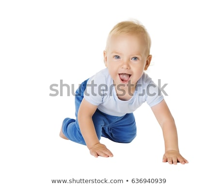 crawling toddler looking into camera Stock photo © gewoldi