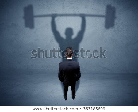 jeune · homme · poids · blanche · fitness - photo stock © filipw