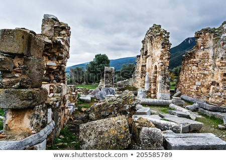 Antica rovine Grecia pilastro pietra architettura Foto d'archivio © ankarb
