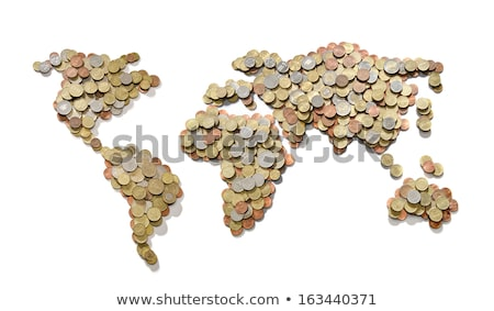 Stock photo: europe and world coins background