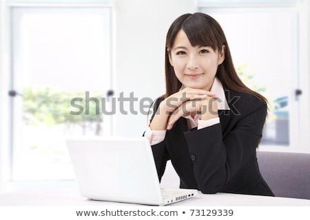 изящный улыбающаяся женщина соответствовать спортивный тело Сток-фото © dash