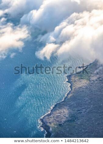Сток-фото: Cloudy Sky From A Window Of Jet Aircraft