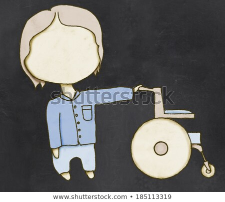 Social and Caretaker Drawing with Clipping Path Stock photo © TLFurrer