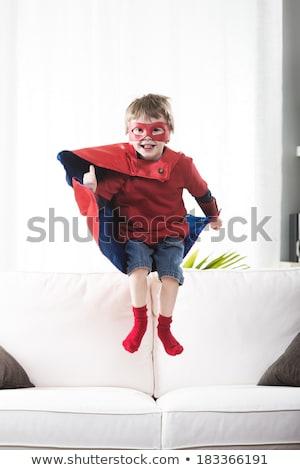 Chłopca ubieranie się w górę superhero dziecko Zdjęcia stock © monkey_business
