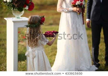 Page Boy Carrying Wedding Ring On Cushion Stock photo © monkey_business