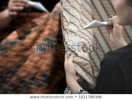 Painting with Fabric and Garments Stock photo © Kayco