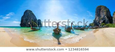 Krabi Tailandia barco sol establecer playa Foto stock © sundaemorning