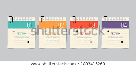 papír · jegyzet · infografika · illusztráció · vektor · absztrakt - stock fotó © auimeesri