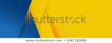 White circles on blue background - vector illustration Stock photo © sdmix