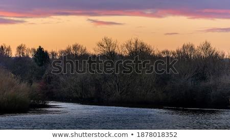 River Bank Cross Dawn Stock photo © rghenry