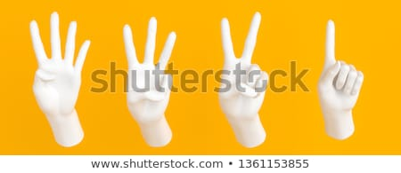 Hand gesture number four closeup isolated on white Stock photo © bloodua