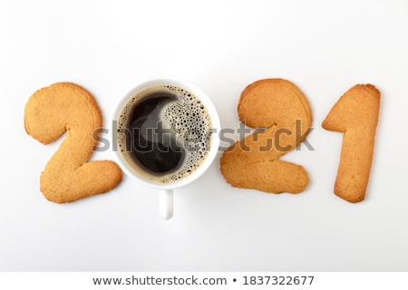 Yin Yang coffee with cookies Stock photo © kalozzolak