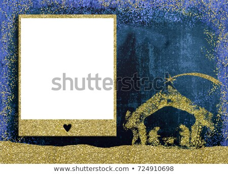 Christmas photo frame with Nativity Scene  Stock photo © marimorena