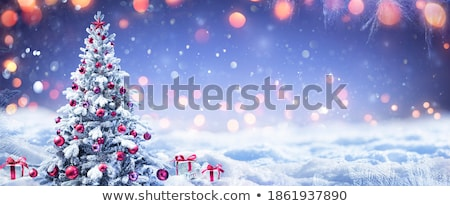 Christmas snowy background Stock photo © orson