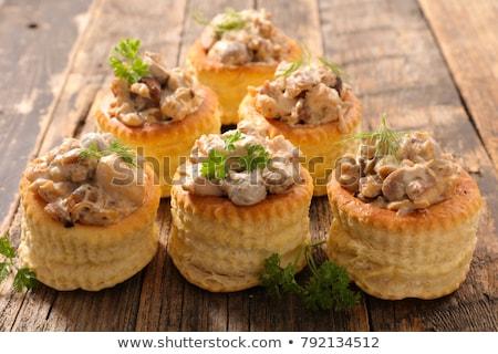 Előétel kloáka kenyér vacsora ebéd gomba Stock fotó © M-studio