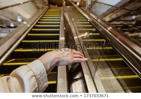 Escalator image isolé blanche déplacement escalier Photo stock © stevanovicigor