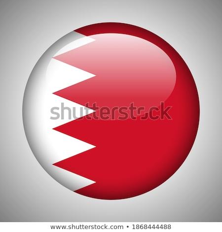 Düğme simge Bahreyn bayrak harita beyaz Stok fotoğraf © mayboro1964
