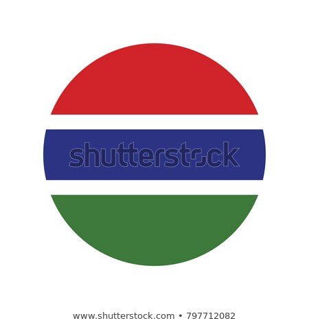 Round button with flag of gambia Stock photo © MikhailMishchenko
