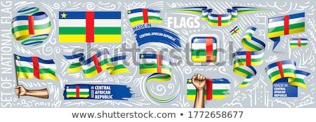 központi · afrikai · köztársaság · zászló · világ · zászlók - stock fotó © dicogm