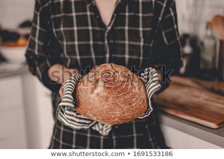 caseiro · pão · delicioso · fresco · pão · integral · guardanapo - foto stock © dar1930
