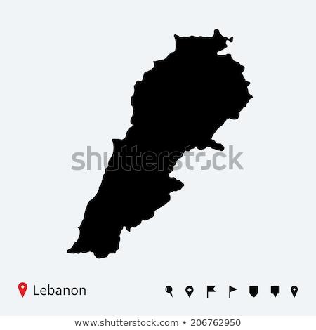 Alto detalhado vetor mapa Líbano navegação Foto stock © tkacchuk