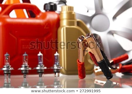 autó · elem · élénk · moto · piros · energia - stock fotó © janpietruszka