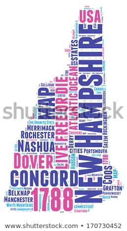 New Hampshire woordwolk wolk vrijheid geschiedenis grafische Stockfoto © tang90246