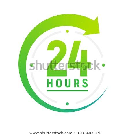 24 доставки зеленый вектора икона дизайна Сток-фото © rizwanali3d